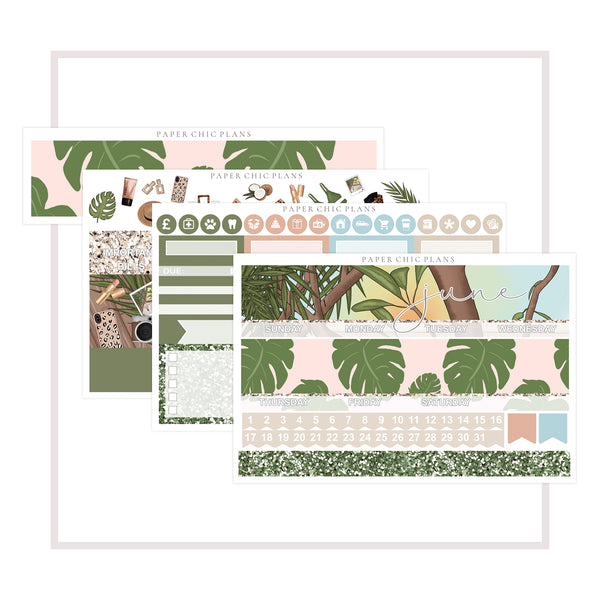 JUNE // Vertical Monthly Planner Kit - Paper Chic Plans