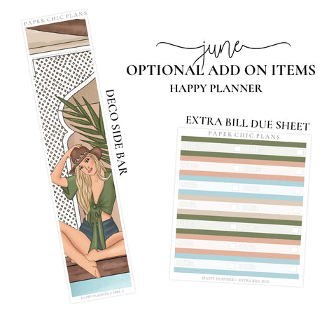 JUNE // ADD ON ITEMS // Happy Planner Classic Monthly Planner Kit - Paper Chic Plans