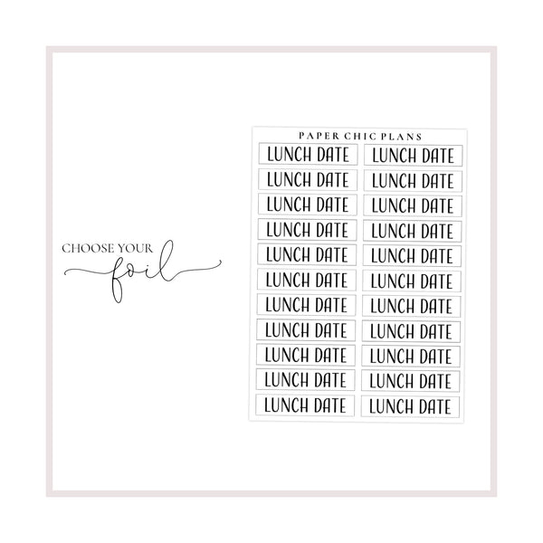 Lunch Date // Foiled Scripts - Paper Chic Plans