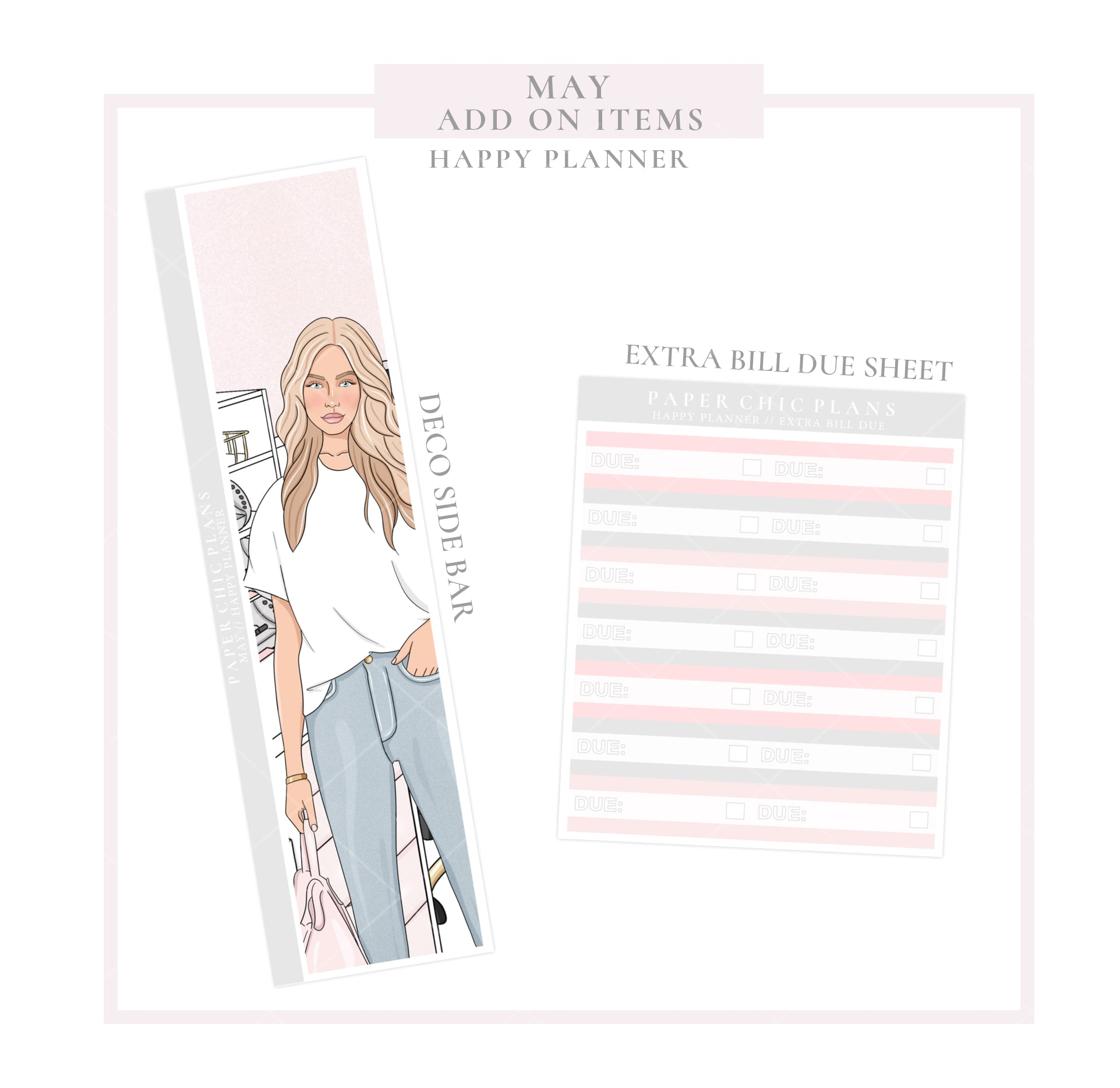 May // ADD ON ITEMS // Happy Planner Classic Monthly Planner Kit