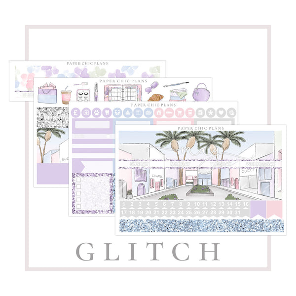Glitch : MAY // Vertical Monthly Planner Kit - Paper Chic Plans