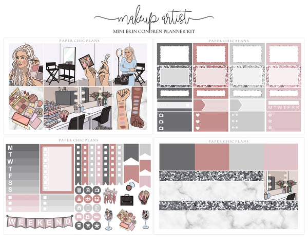 Makeup Artist // Mini Kit - Paper Chic Plans