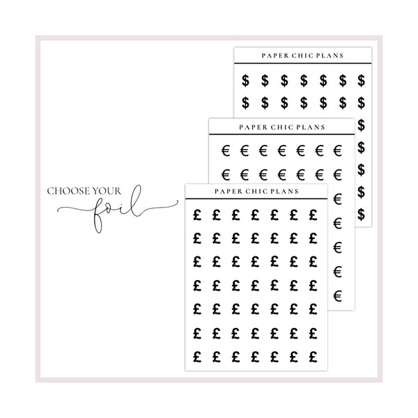 Money Icons // Foiled - Paper Chic Plans