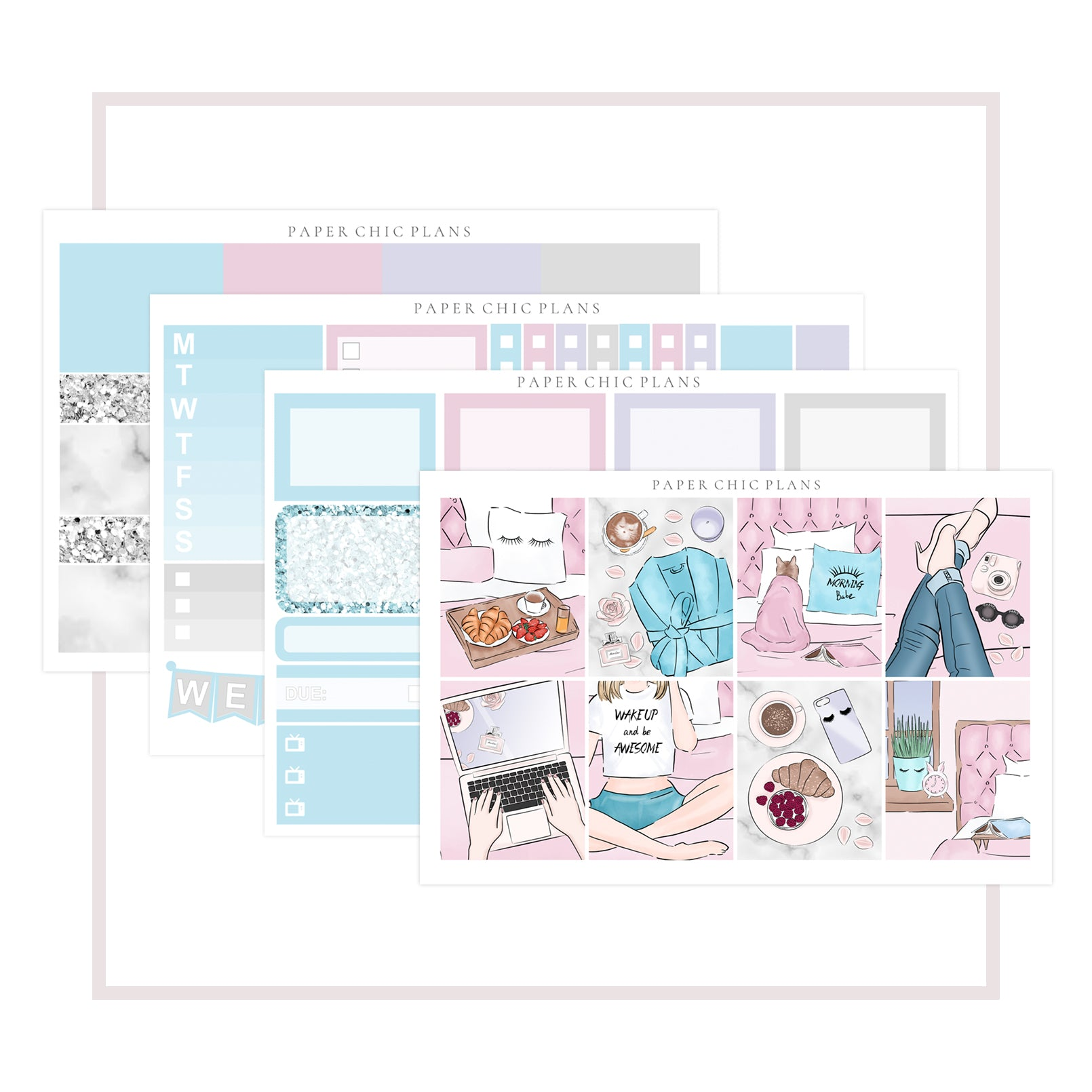 Morning // Mini Kit - Paper Chic Plans