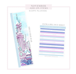 November // ADD ON ITEMS // Happy Planner Classic Monthly Planner Kit
