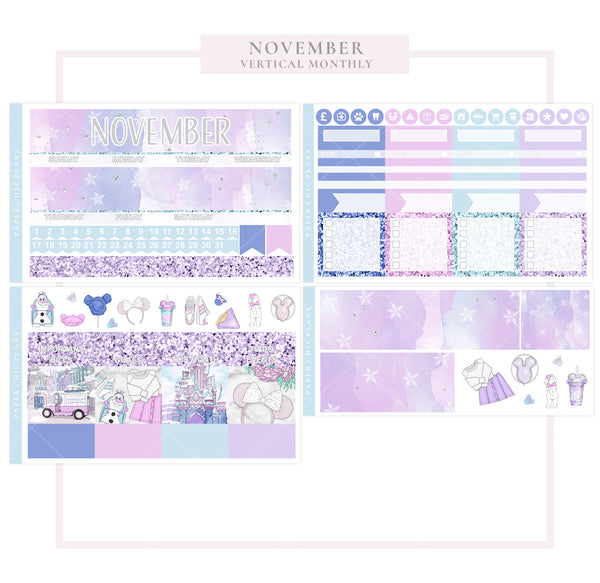 November // Vertical Monthly Planner Kit