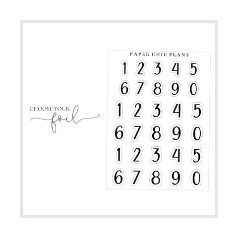 Numbers // Foiled - Paper Chic Plans