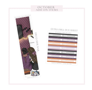 October // ADD ON ITEMS // Vertical Monthly Planner Kit