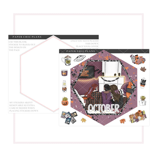 OCTOBER // Hexagon Notes Page Kit