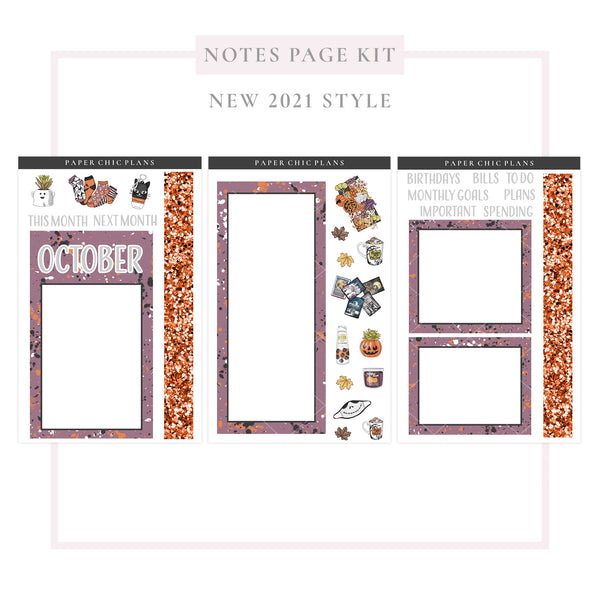 October // NEW Style 2021 // Notes Page Kit
