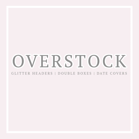 Overstock // Glitter Headers , Double Boxes & Date Covers - Matte - Paper Chic Plans