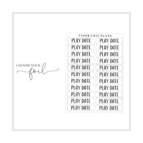 Play Date // Foiled Scripts - Paper Chic Plans