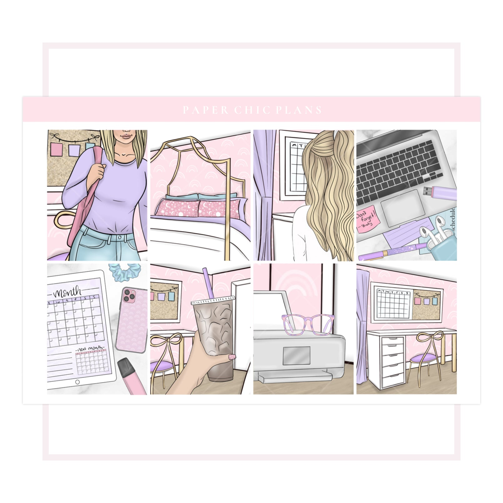 Pretty In Pink // Full Kit - Paper Chic Plans