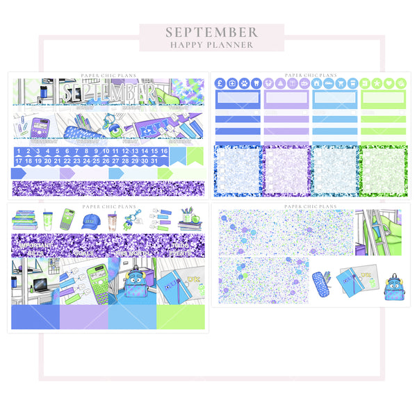 SEPTEMBER : Scare School // Happy Planner Classic Monthly Planner Kit - Paper Chic Plans