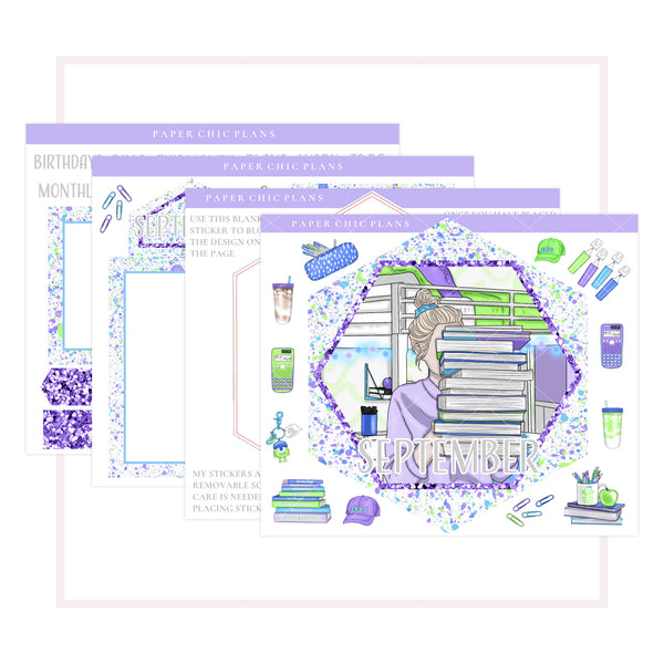 SEPTEMBER : Scare School // Hexagon Notes Page Kit - Paper Chic Plans
