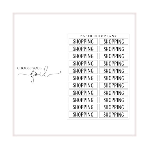 Shopping // Foiled Scripts - Paper Chic Plans