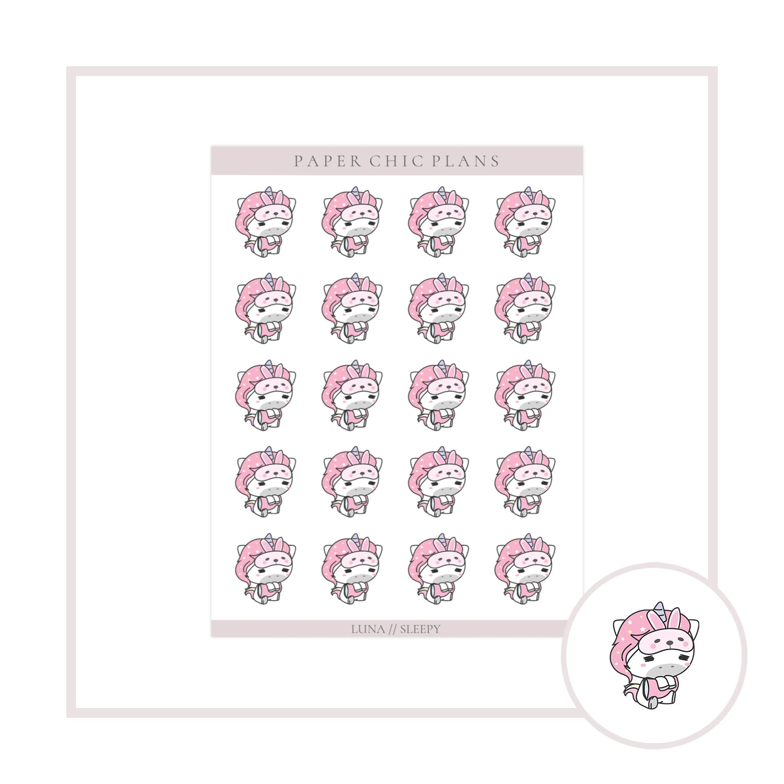 Sleepy // Luna Collection - Paper Chic Plans