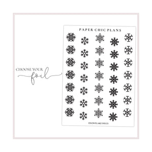 Snowflake Deco Stickers // Foiled - Paper Chic Plans