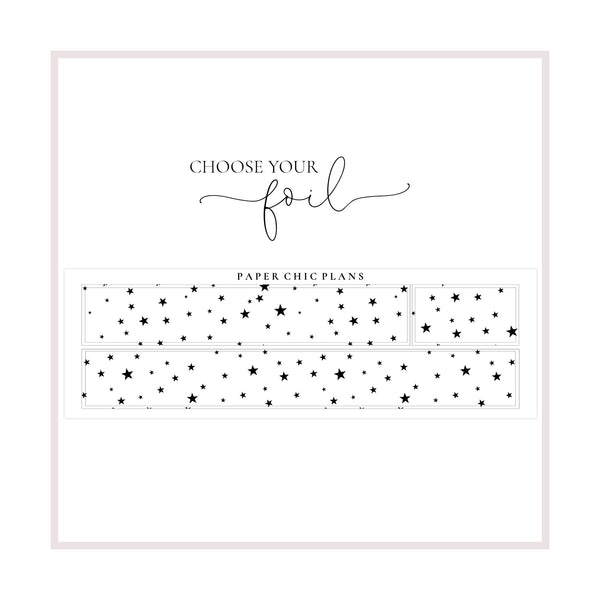 Overlay Sparkly Stars Washi // Foiled - Paper Chic Plans