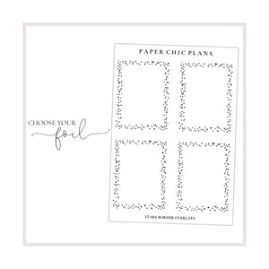 Full Box Stars Border Overlays // Foiled - Paper Chic Plans