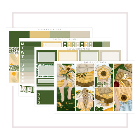 Sunflowers // Mini Kit - Paper Chic Plans