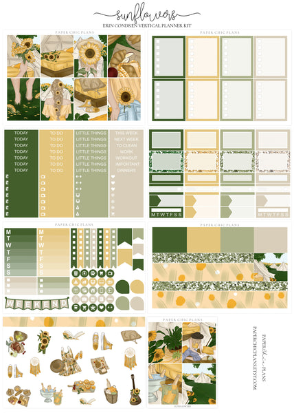 Sunflowers // Full Kit - Paper Chic Plans