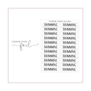 Swimming // Foiled Scripts - Paper Chic Plans
