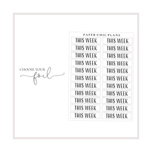 This Week // Foiled Scripts - Paper Chic Plans