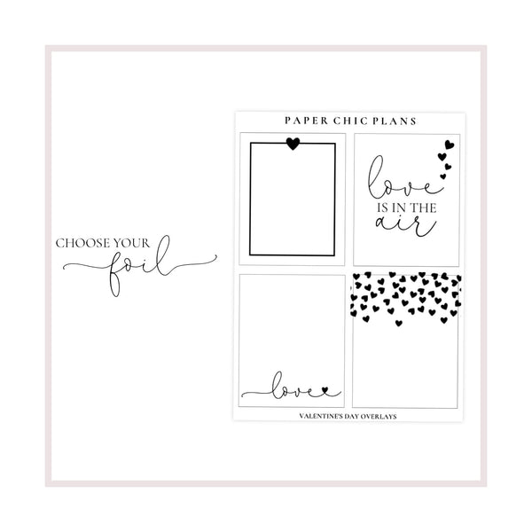 Full Box Love Overlays // Foiled - Paper Chic Plans
