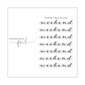 Weekend Banner // Foiled - Paper Chic Plans