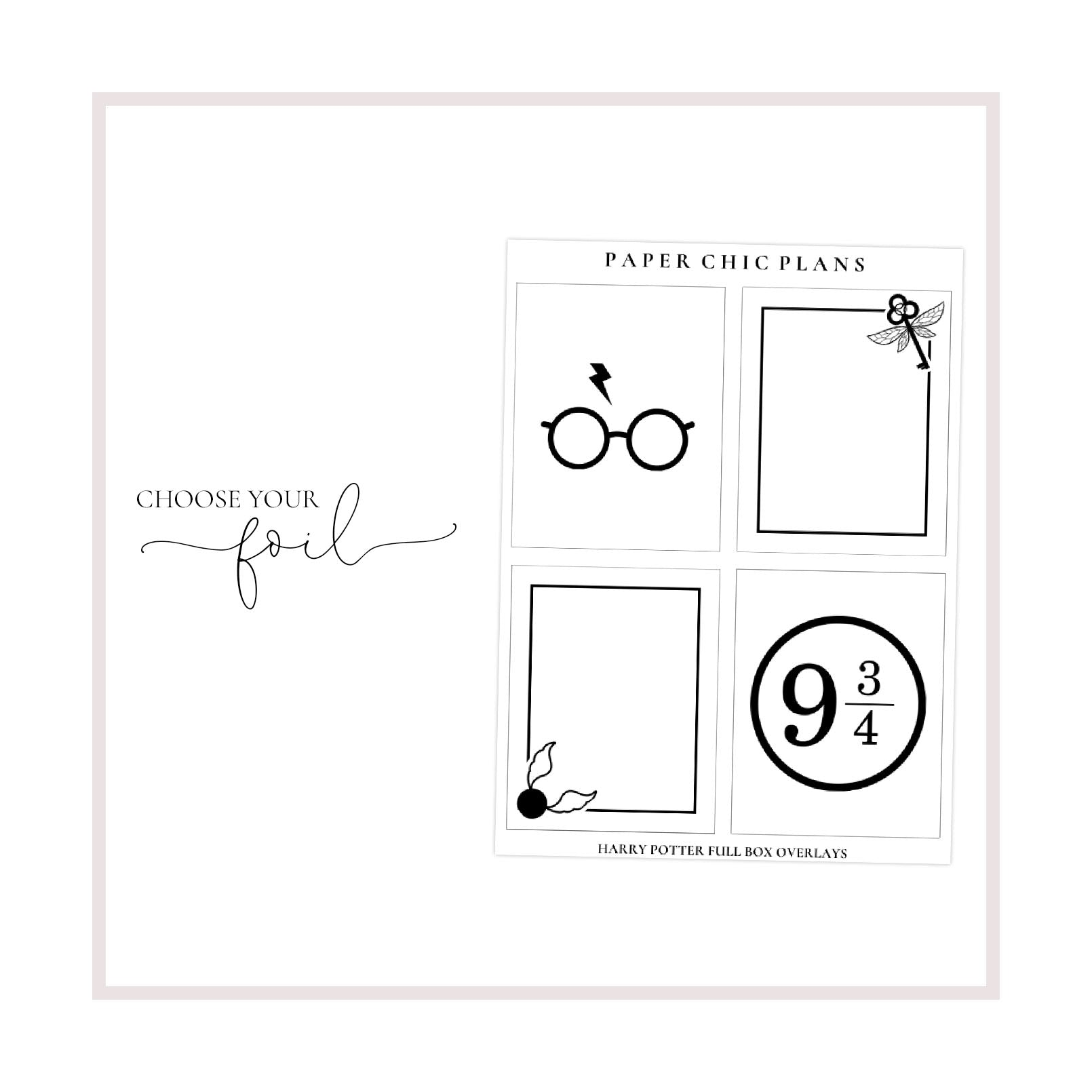 Wizard Full Box Overlays // Foiled - Paper Chic Plans
