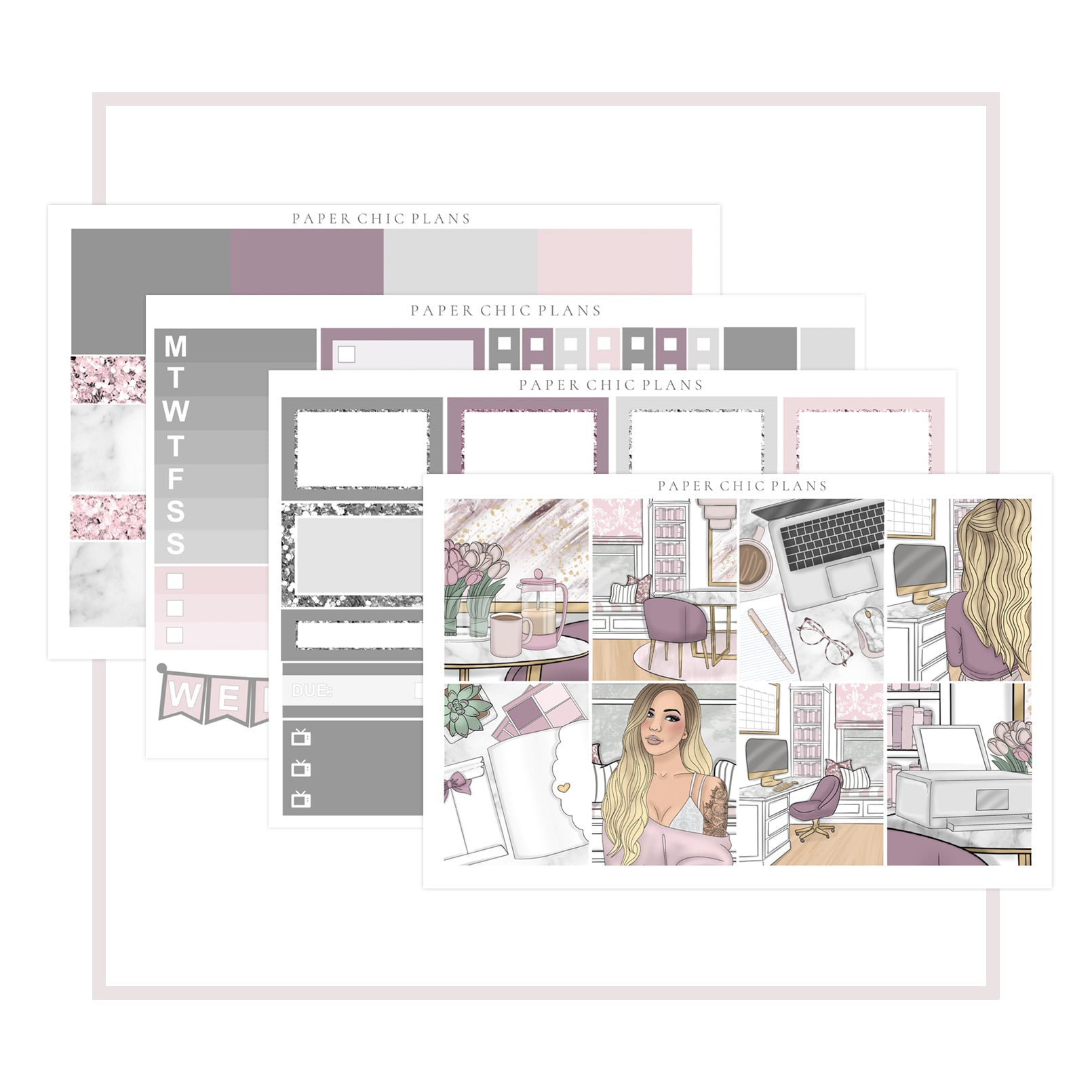 Work From Home // Mini Kit - Paper Chic Plans