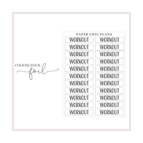 Workout // Foiled Scripts - Paper Chic Plans