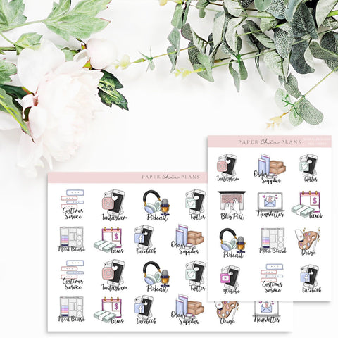 BOSS BABE // Planner Icons - Paper Chic Plans