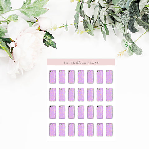 PHONE BILL // Planner Icons - Paper Chic Plans