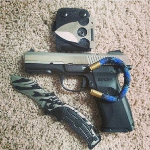 9mm Navy BearArms Bracelet with a Ruger Handgun