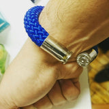 blue beararms bullet casing bracelet jewelry