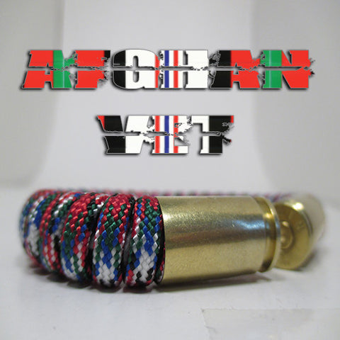 afghan vet paracord beararms bullet casings bracelet jewelry