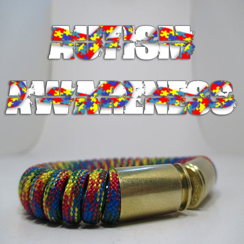 autism paracord beararms bullet casings bracelet jewelry