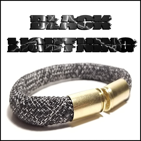 black lightning beararms bullet casing bracelet