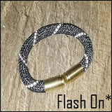 black lightning beararms bullet casing bracelet flash on