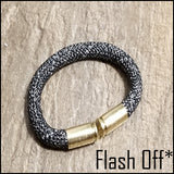 black lightning beararms bullet casing bracelet flash off