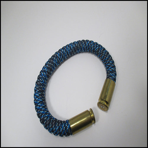 blue spec paracord beararms bullet casings jewelry bracelets