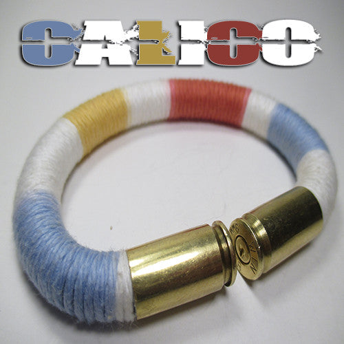 calico 100% cotton yarn beararms bullet casings jewelry bracelets