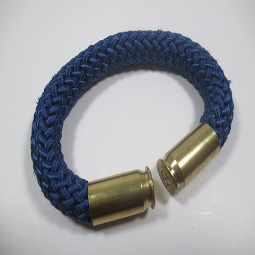 midnight blue beararms bullet casing bracelet jewelry