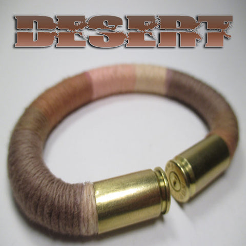 desert 100% cotton yarn beararms bullet casings jewelry bracelets