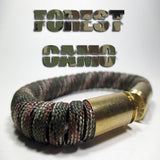 forest camo paracord beararms bullet casings jewelry bracelets