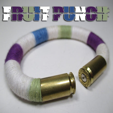 Fruit punch 100% cotton yarn beararms bullet casings jewelry bracelets