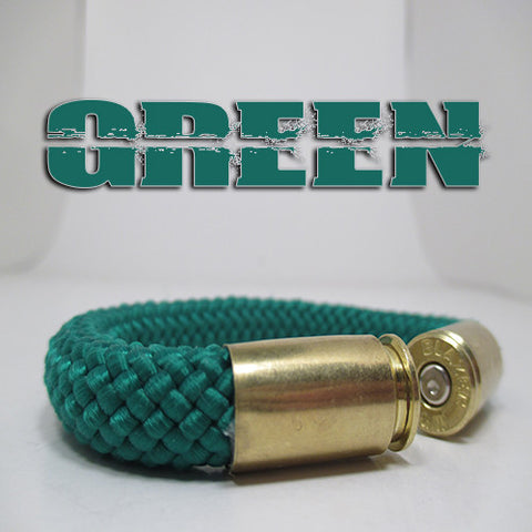 green beararms bullet casing bracelet jewelry