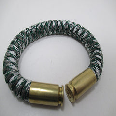 green camo paracord beararms bullet casings jewelry bracelets